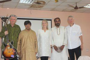 Dørge Becker Carlsen in India. With Shashank Subramanyam and Giri